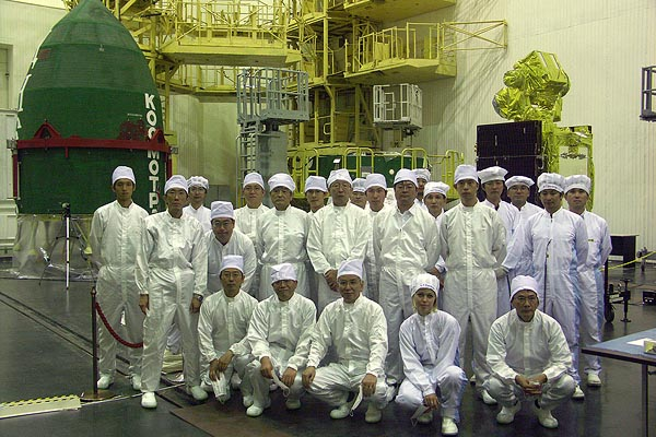Before Integration of OICETS / INDEX Satellites into Space Head Module, Site31, Baikonur, Special thanks to JAXA, (C) Kosmotras