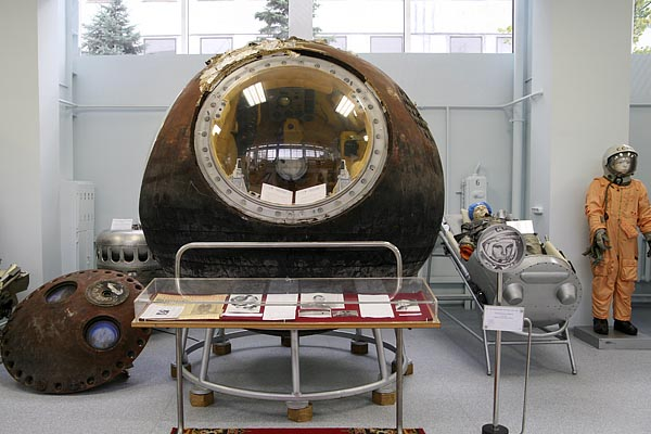 Descent module of Vostok -1, the world's first manned flight by Yuri Gagarin 2006-10 (C) Seiji Yoshimoto